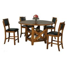 Winners Only Westchester Counter Height Dining Table with Storage Base &…