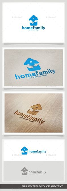 Home Family Logo Design Template Vector #logotype Download it here:  http://graphicriver.net/item/home-family/11945138?s_rank=1480?ref=nexion