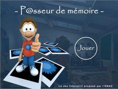 Jeux sérieux - Un grand père se rappelle des événements  de 14-18 grâce à l'aide de son petits fils http://onac.paraschool.com/