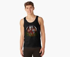 Camiseta de tirantes unisex Varbbo #fantasy #shop #redbubble #art #black #moda