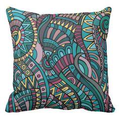 http://www.zazzle.com/tantalizingly_tribal_pillow_srf-189588554306348135 ... Tantalizingly Tribal Pillow - SRF