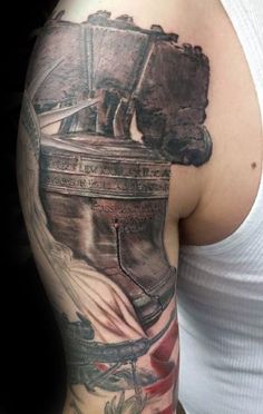 Patriotische Tattoos, Octopus Tattoos, Arm Tattos, Belle Tattoo, Cool Half Sleeve Tattoos, Hand Tats, Let Freedom Ring, Creative Tattoos, American Independence