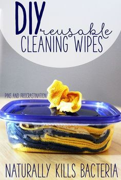 Everyone loves convenience. There's nothing more convenient than just reaching for a wipe and cleaning up a mess. But I always hate throwing them away- it feels so wasteful. So I came up with a solution: DIY reusable cleaning wipes!