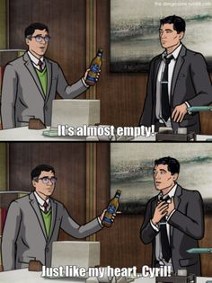 Enter the danger zone with these Archer jokes Photos) Archer Funny, Archer Tv Show, Archer Fx, Funny Picture Quotes, Funny Photos, Sterling Archer, Danger Zone, Adult Cartoons