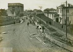 Ul. Mogilska / Budowa linii tramwajowej na ul. Mogilskiej, 1934. ANK, Spuścizna Mieczysława Kaplickiego, sygn. SpMK 13