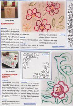 Desenhos e riscos para bordar de flores   Desenhos e Riscos - Desenhos para colorir