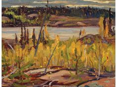 Alexander Young Jackson DOME LAKE, NORTHERN SASKATCHEWAN; 1957 Canadian Painters, Canadian Artists, Group Of Seven Paintings, Franklin Carmichael, Tom Thomson Paintings, Emily Carr, Art Auction, Oil Paintings, Wilderness