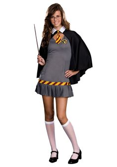 teen wizard costume wizard wanda teen costume this school girl will cast a spell costume includes stretch knit dress with pleated hem cape - Girls Teen Halloween Costumes