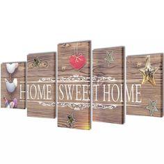 "Canvas Wall Print Set Home Sweet Home Design 79"" x 39""-D0102"