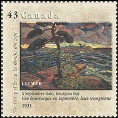 Canada 1995. Group of Seven. Realism/Naturalism. Arthur Lismer. A Septembere Gale, Gorgian Bay.
