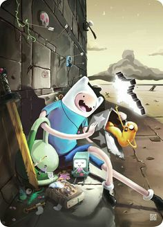 Adventure Time is an animated television series featuring the adventures of Finn and Jake who lived in the post-apocalyptic Land of Ooo. Video Games List, Video Games For Kids, Marceline, Cartoon Network, Art Adventure Time, Adveture Time, Land Of Ooo, Finn The Human, Jake The Dogs