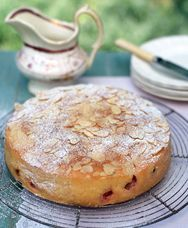 Gooseberry and almond cake