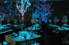 This bluish light would look really good on the outer parts of the wedding area as people walk in Wedding Gowns, Our Wedding, Wedding Ideas, Galaxy Wedding, Elves And Fairies, Wedding Decorations, Table Decorations, Reception Areas, Forest Wedding