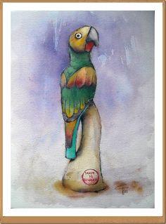 Carlito - Gianluigi Punzo - Naples - Napoli - Italy - Italia - Watercolor - Acquerello - Aquarelle - Acuarela