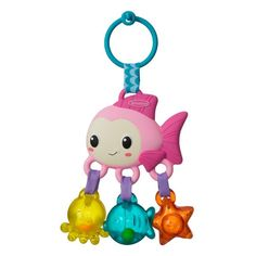 Rattle beads and click-clacking elements make the Jingle Sea Charms Rattle Fish fun to shake and bat. Easy to link to car seats, strollers, diaper bags and more for on-the-go fun. Baby Girl Car Seats, Baby Girl Shoes, Baby Play, Baby Toys, Kids Toys, Maya, Baby Doll Bed, Play Gym, Bitty Baby