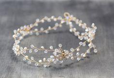 Bridal Headpiece Bridal Crown Flower bridal by PrettyNatali #bridal #hairvine #tiara #headband #crown #ridalheadpiece