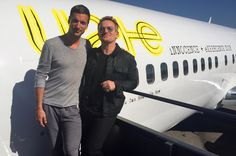 Barlow (left) and Bono