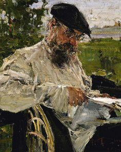 Reading the Newspaper, the Artist's Father 1916 Nicolai Fechin Born: Kazan, Russia 1881 Died: Santa Monica, California 1955 oil on canvas 17 x 14 in.) Smithsonian American Art Museum Gift of Arvin Gottlieb Painting People, Figure Painting, Painting & Drawing, Pierre Auguste Renoir, Russian Painting, Russian Art, Russian Folk, Paintings I Love, Beautiful Paintings