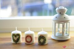 Christmas candle  More: https://www.facebook.com/elais.design/