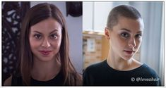 long to shaved Cut My Hair, Hair Cuts, Shaved Head Women, Before After Hair, Shave My Head, Super Short Hair, Bald Women, Shaved Hair, Hair Transformation