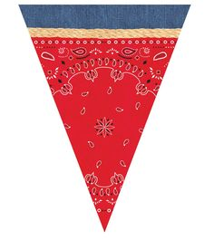 Yee ha It's Party Time! This Bandana and Blue Jean print Plastic Banner is a cute addition to your Wild West or farm party theme. Banner measures 12 feet in length and each pennant is over tall. Cumple Toy Story, Festa Toy Story, Toy Story Party, Cowboy Theme Party, Farm Themed Party, Barnyard Party, Farm Party, Party Fun, Western Party Decorations