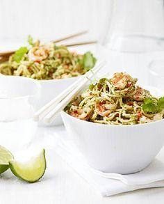 Low FODMAP Recipe and Gluten Free Recipe - Thai pesto shrimp noodles  http://www.ibssano.com/low_fodmap_recipe_thai_pesto_shrimp.html