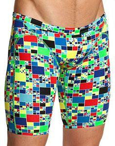3a42b710ec Funky Trunks Boys Rubiks Runner Training Jammer Trunks Swimwear, Boys  Swimwear, Swim Trunks,