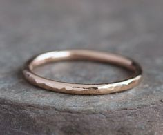 Lina++Handmade+Solid+14k+Rose+Gold+Ring+by+blacksanddesigns,+$118.00