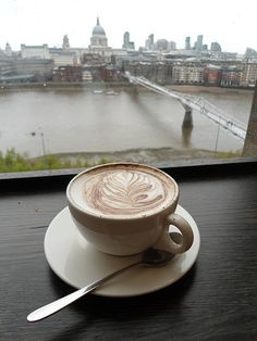 coffee at the Tate Modern in London :)