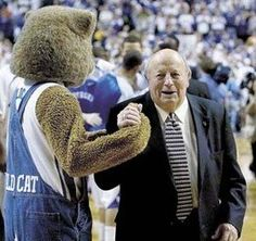 Mr. Wildcat, witness to 1,113 Kentucky basketball wins. Beloved by Kentucky fans and players. He is greatly missed.