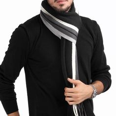Hot trending item: Winter Design Str... Check it out here! http://jagmohansabharwal.myshopify.com/products/winter-design-striped-scarf-men-shawls-scarves?utm_campaign=social_autopilot&utm_source=pin&utm_medium=pin