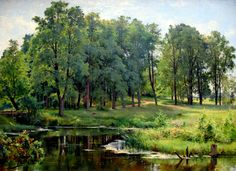 In the Park (1897), Materials: oil on canvas. Dimensions: 82.7 x 110.4 cm, Ivan Shishkin