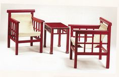 Robert MALLET-STEVENS Art Deco Furniture, Furniture Design, Robert Mallet Stevens, French Architecture, Bauhaus, Rocking Chair, Bar Stools, Interior, Table