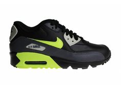 8d15b00417 Nike Air Max 90 LTR (GS) Black/Grey/Neon Yellow 833412 023 Juniors' Sneakers