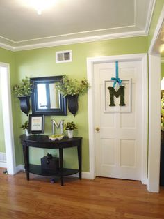 ASPARAGUS - BEHR I like this color for my entry way. Wonder if my husband would go for it...
