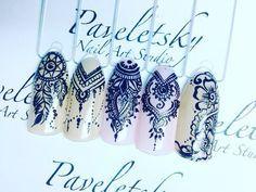Дизайн ногтей тут! ♥Фото ♥Видео ♥Уроки маникюра Colorful Nail Designs, Beautiful Nail Designs, Nail Art Designs, Nail Art Tribal, Geometric Nail, Gorgeous Nails, Pretty Nails, Nail Art Arabesque, Dream Catcher Nails