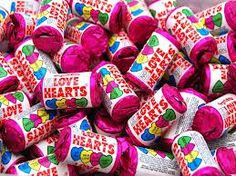 Love hearts for the pick and mix table