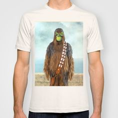 """Chewbacca in famous painting from Magritte, """"The Son Of A Man"""". Cool t-shirt with Chewbacca portaited in famous surrealistic painting """"The Son Of A Man"""""""