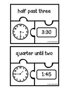 Telling Time to the Nearest 5 Minutes--Great Math Center! TIME PUZZLES - TeachersPayTeachers.com