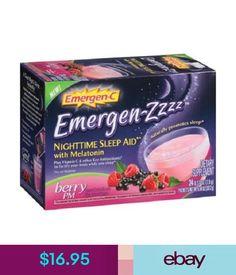 Vitamins & Minerals Emergen-C Emergen-Zzzz Nighttime Sleep Aid Berry Pm Dietary Supplement Drink Mix #ebay #Fashion