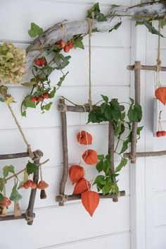 Autumn decoration - magic decorations made of natural materials. I'll show you how to make a colorful wall decoration for the fall and a colorful autumn wreath out of colorful leaves, lantern flow Autumn Crafts, Nature Crafts, Magic Decorations, Autumn Decorations, Diy For Kids, Crafts For Kids, Summer Decoration, Deco Nature, Deco Floral