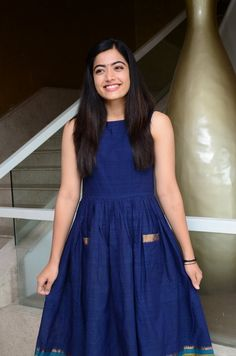 Actress Rashmika Mandanna At Dear Comrade Movie Launch Beautiful Girl Indian, Most Beautiful Indian Actress, Beautiful Children, Stylish Girls Photos, Girl Photos, Ikkat Dresses, Indian Models, Indian Celebrities, Hottest Models