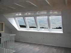 Inside: In the attic . Attic Loft, Loft Room, Attic Spaces, Small Spaces, Attic Inspiration, Barn Renovation, Interior And Exterior, Interior Design, Attic Bedrooms