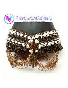 Women's Tribal shell & sequined Belt by RaveWonderlandStore