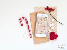 [GRAPICH] Pimp my phone: free smartphone wallpaper december 2015 designed by Le Petit Rabbit