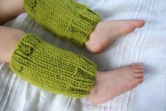 Baby Leg Warmers Knit Leg Warmers Green Olive Leg by BambinoStore