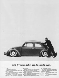 Retouching is normal in automobile print advertising. But here someone retouched the ad to lower the car. Other than that the ad seems to be stock. [1962; first year for a gas gauge]