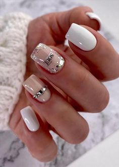 40 Beautiful natural short square nails design ideas to get inspired for Spring nails & Summer nails - Page 2 of 2 - Fashion Girl'S Blog Beauty Nails, Nailart, Manicure, Design, Nail Bar, Nails, Nail Manicure, Nail Polish, Manicures