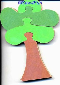 Tree #41 Puzzle Scroll Saw Pattern