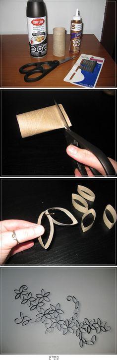 Decoración con rollos de papel higiénico #manualidades DIY